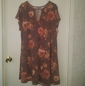 Muted floral dress